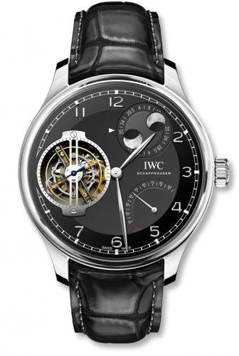 IWC IW5901-04 : Portugieser Constant-Force Tourbillon Double Moon Platinum / Black