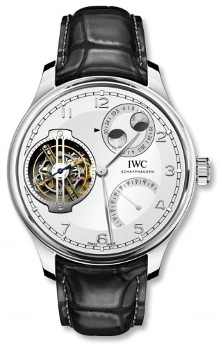 IWC IW5901-05 : Portugieser Constant-Force Tourbillon Double Moon Platinum / Silver