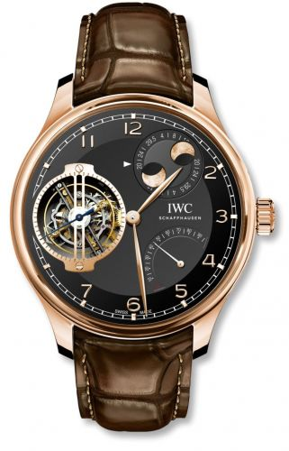 IWC IW5901-07 : Portugieser Constant-Force Tourbillon Double Moon Red Gold / Black