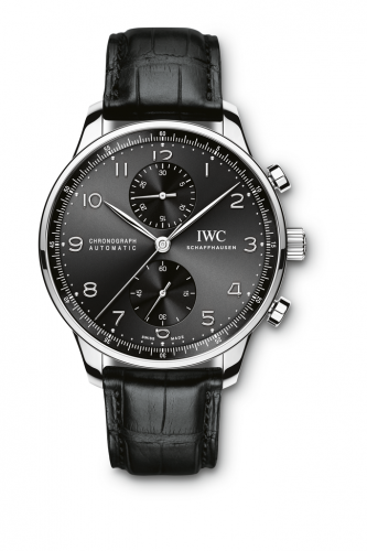 IWC IW3714-47 : Portuguese Chrono-Automatic Stainless Steel / Black