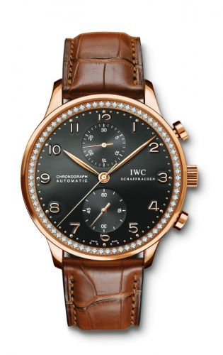 IWC IW3714-70 : Portuguese Chrono-Automatic Rose Gold / 80 Diamond