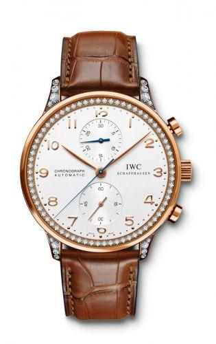 IWC IW3714-77 : Portuguese Chrono-Automatic Rose Gold / 80 Diamond