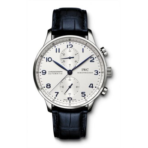 IWC IW3714-17 : Portuguese Chrono-Automatic Stainless Steel / Silver