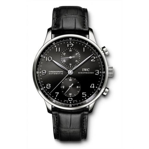 IWC IW3714-38 : Portuguese Chrono-Automatic Stainless Steel / Black