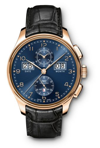 """IWC IW3972-04 : Portugieser Perpetual Calendar Digital Date-Month Edition """"75th Anniversary"""" Red Gold / Blue"""