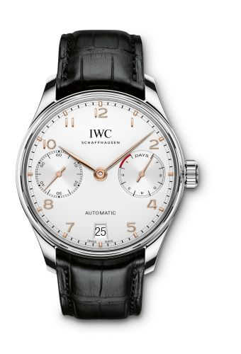 IWC IW5007-04 : Portugieser Automatic 5007 Stainless Steel / Silver / Gold Numerals