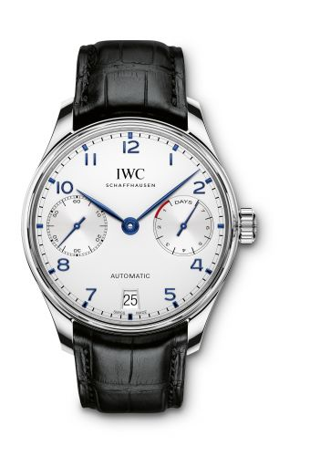 IWC IW5007-05 : Portugieser Automatic 5007 Stainless Steel / Silver / Blue Numerals