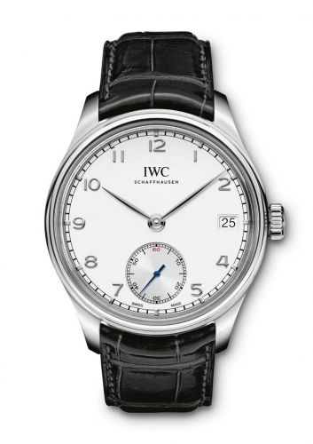 IWC IW5102-03 : Portuguese Hand-Wound Eight Days Stainless Steel / Silver
