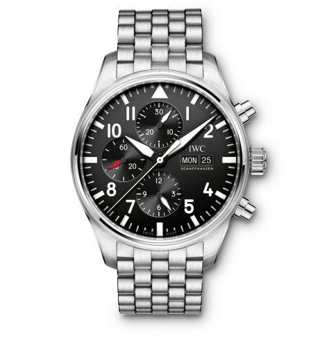IWC IW3777-10 : Pilot's Watch Chronograph Stainless Steel / Black / Bracelet