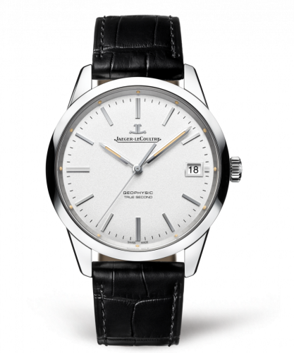 8018420 : Jaeger-LeCoultre Geophysic True Second Stainless Steel / Silver / Alligator