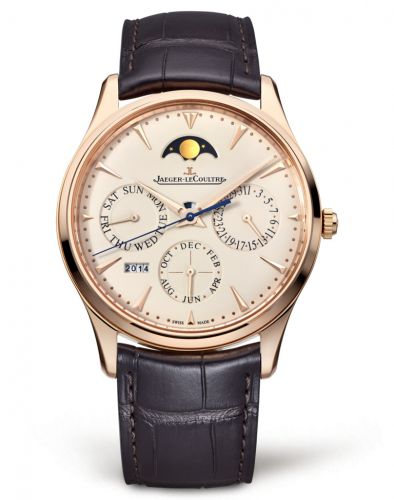 Jaeger-LeCoultre 1302520 : Master Ultra Thin Perpetual Pink Gold / Eggshell / Alligator