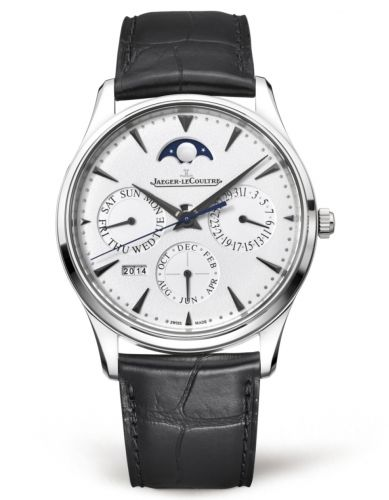 Jaeger-LeCoultre 1303520 : Master Ultra Thin Perpetual White Gold / Silver / Alligator