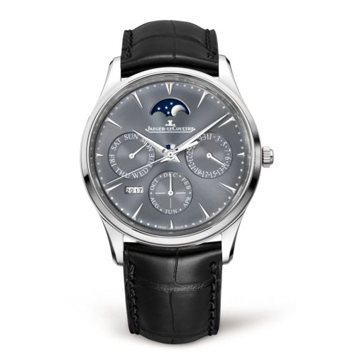 Jaeger-LeCoultre 130354J : Master Ultra Thin Perpetual White Gold / Grey / Alligator