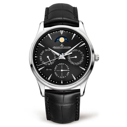 Jaeger-LeCoultre 1308470 : Master Ultra Thin Perpetual Stainless Steel / Black / Alligator