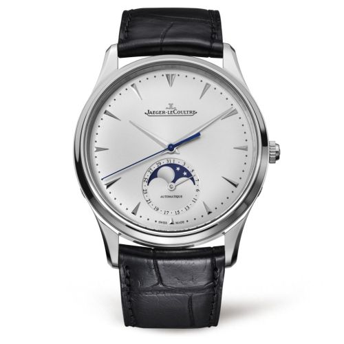 Jaeger-LeCoultre 1368420 : Master Ultra Thin Moon Stainless Steel / Silver / Alligator