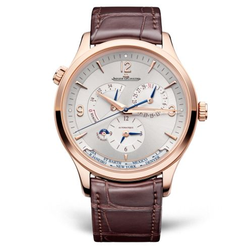 Jaeger-LeCoultre 4122520 : Master Control Geographic Pink Gold / Silver / Alligator