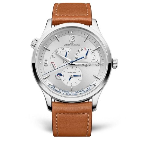Jaeger-LeCoultre 4128420 : Master Control Geographic Stainless Steel / Silver / Calf