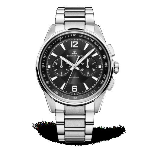 Jaeger-LeCoultre 9028170 : Polaris Chronograph Stainless Steel / Black / Bracelet