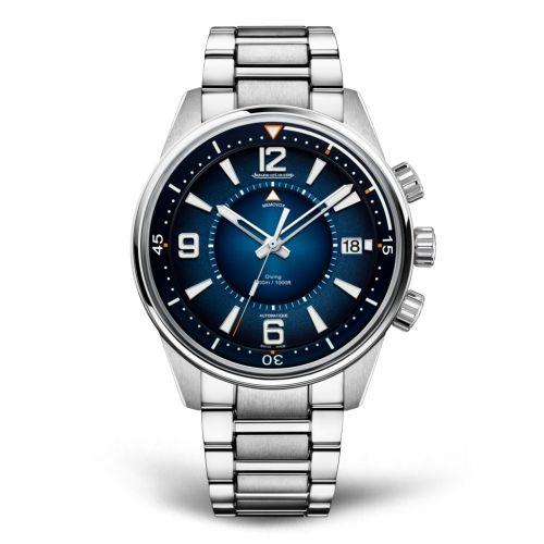 9038180 : Jaeger-LeCoultre Polaris Mariner Memovox Stainless Steel / Blue / Bracelet