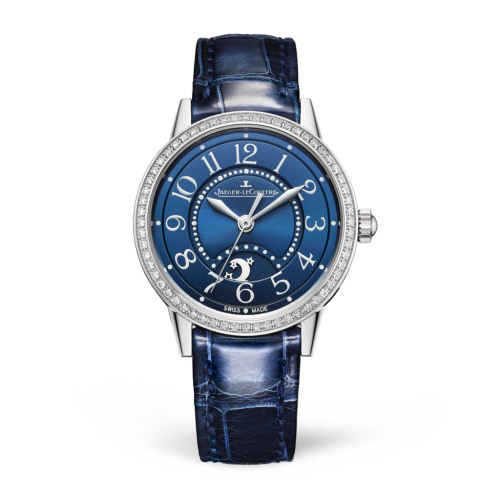 Jaeger-LeCoultre 3468480 : Rendez-Vous Night & Day Small Stainless Steel / Diamond / Blue / Alligator