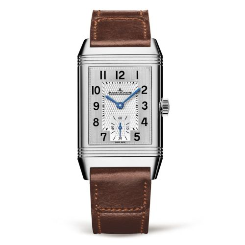 Jaeger-LeCoultre 2458422 : Reverso Classic Medium  Duoface Small Seconds Stainless Steel / Silver / Fagliano