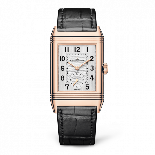 Jaeger-LeCoultre 3842520 : Reverso Classic Large Duoface Pink Gold / Silver / Alligator