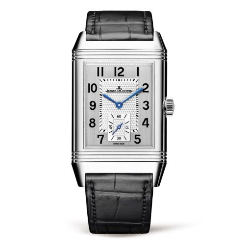 Jaeger-LeCoultre 3848420 : Reverso Classic Large Duoface Small Seconds Stainless Steel / Silver / Alligator