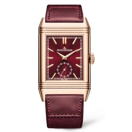 Jaeger-LeCoultre 398256J : Reverso Tribute Duoface Fagliano Pink Gold  / Burgundy