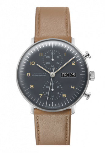Junghans 027/4501.00 : Max Bill Chronoscope Grey Day / Date
