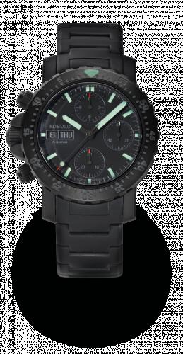 Kobold KN 321866-1 : Phantom Black Ops Chronograph DLC / Black / Bracelet
