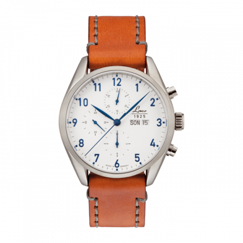 Laco 861584 : Chronographs Chicago / Stainless Steel / White