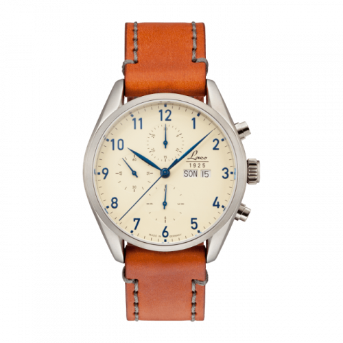 Laco 861585 : Chronographs San Fransisco / Stainless Steel / Creme