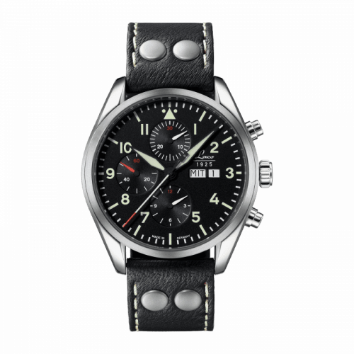 Laco 861815 : Chronographs Monte Carlo / Stainless Steel / Black