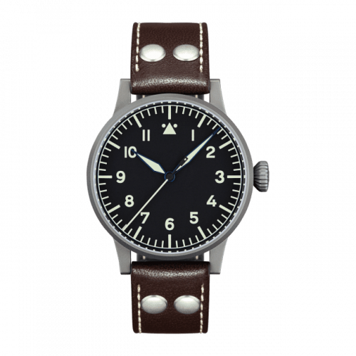 Laco 861750 : Pilot Watch Original Westerland Stainless Steel / Black