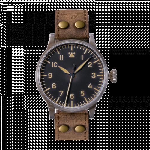 Laco 861935 : Pilot Watch Original Münster Erbstück Stainless Steel / Black