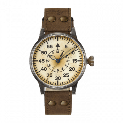 Laco 861944 : Pilot Watch Original Wien Erbstück Stainless Steel / Superluminova