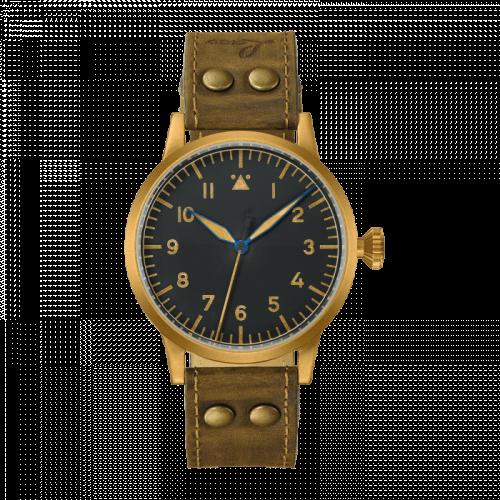 Laco 862085 : Pilot Watch Original Saarbrücken Bronze / Black