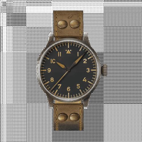 Laco 862098 : Pilot Watch Original Heidelberg Erbstück Stainless Steel / Black