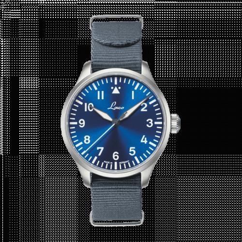 Laco 862102 : Pilot Watch Original Augsburg Blaue Stunde Stainless Steel / Blue