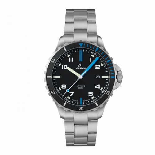 Laco 862108.MB : Squad Watch Atlantik MB / Stainless steel / Black
