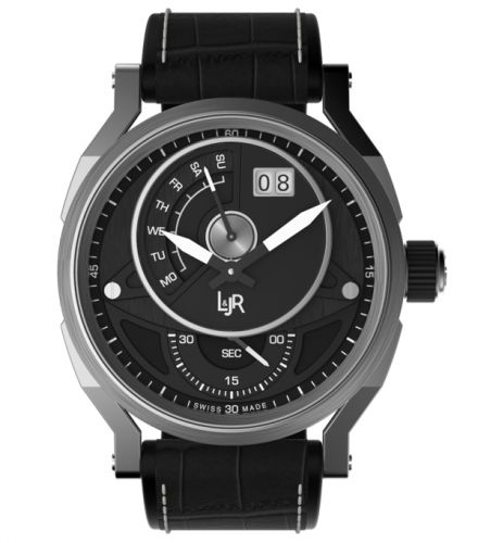 L & Jr S1302 : Step One Day & Date Stainless Steel / Black