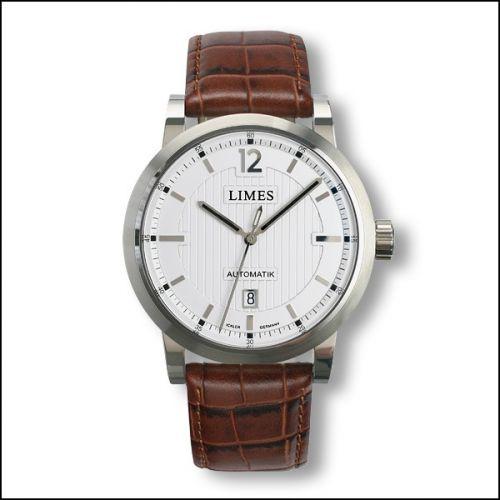 Limes U6017-LA1.2 : Chyros Automatic - Silvered / brown leather strap (Croco)