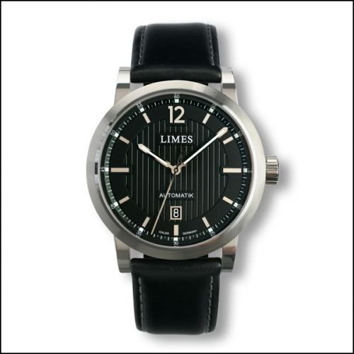 Limes U6017-LA1.3 : Chyros Automatic - Black / black leather strap