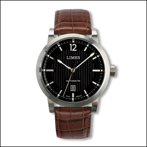 Limes U6017-LA1.4 : Chyros Automatic - Black / brown leather strap (Croco)