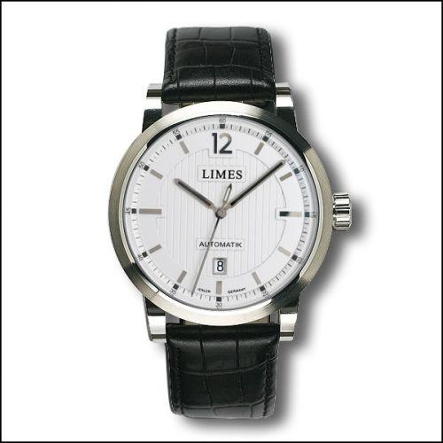 Limes U6017-LA1.5 : Chyros Automatic - Silvered / black leather strap (Croco)
