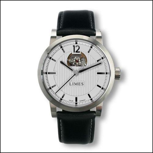 Limes U6017-LA2.1 : Chyros Balancier Visible - silvered / black leather strap