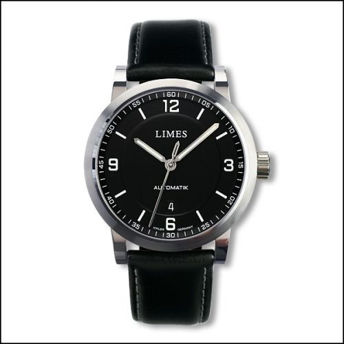 Limes U6017-LA3.1 : Chyros Klassik - Black leather (plain)