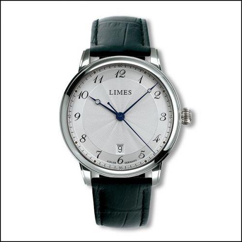 Limes U6282C-LA5.1 : Pharo Cartouche A - Silvered dial - Black leather strap