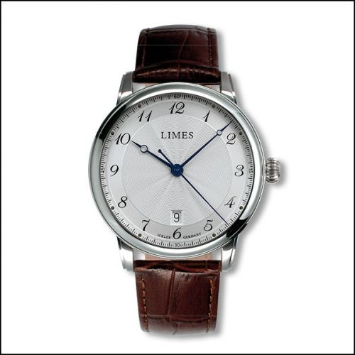 Limes U6282C-LA5.2 : Pharo Cartouche A - Silvered dial - Brown leather strap