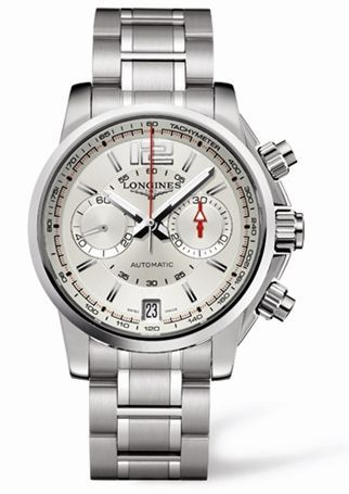 L3.666.4.76.6 : Longines Admiral Chronograph Silver